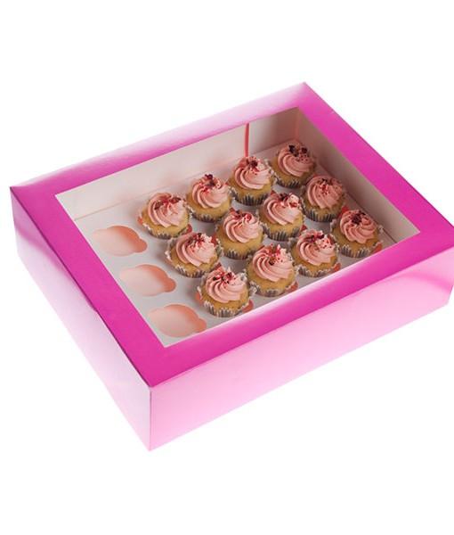 Cupcake Box - pink, mini