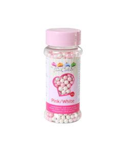 FunCakes Zuckerperlen - pink/weiss