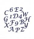 Ausstecher Set - Alphabet & Zahlen (Kursiv)