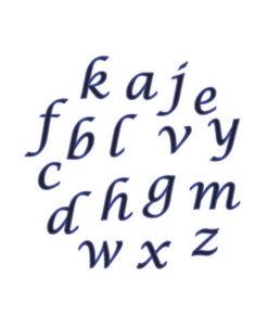 Ausstecher Set - Alphabet (Kursiv, klein)