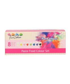 Lebensmittelfarben Pasten Set, 8 Stück
