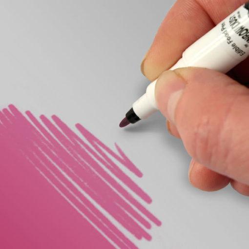 Lebensmittelfarbstift - pink