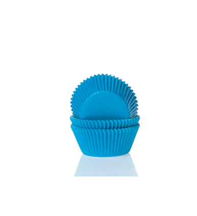 Papierbackförmchen - blau, mini