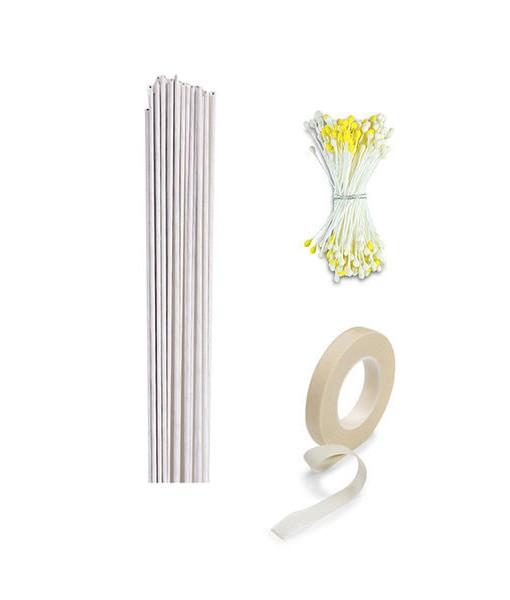 Blumen Set - weiss