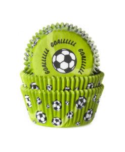 Papierbackförmchen - Fussball