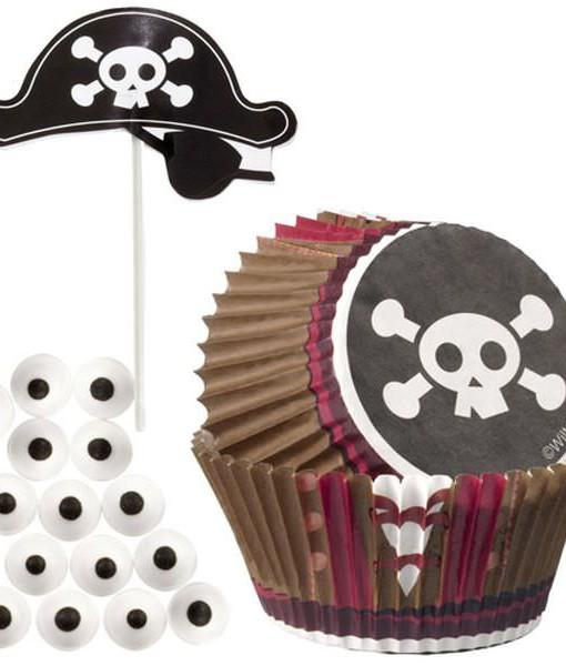 Wilton Papierbackförmchen Set - Piraten
