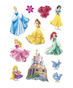 Zucker Aufkleber Disney Princess