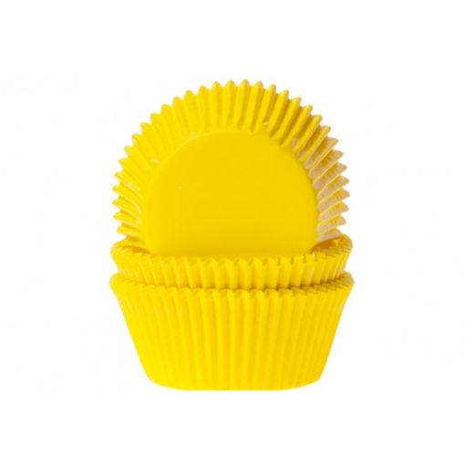 Papierbackförmchen - gelb