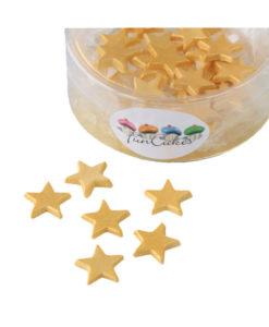 Streufiguren - Fondant Sterne, gold