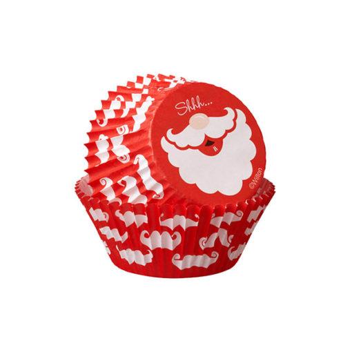 Papierbackförmchen - Weihnachtsmann