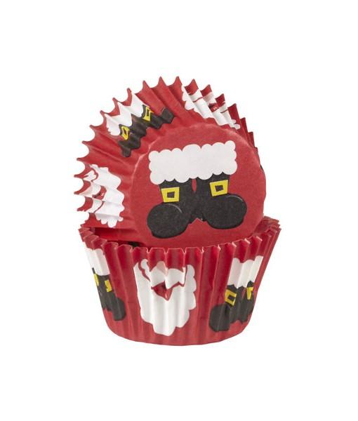 Weihnachtsbackförmchen - Santa, mini