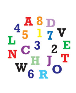 Ausstecher Set - Alphabet & Zahlen
