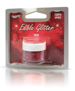 Lebensmittelfarbe Pulver - Glitzer, rot