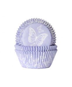Papierbackförmchen - Schmetterling, lila