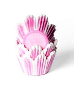 Papierbackförmchen - Tulpe pink