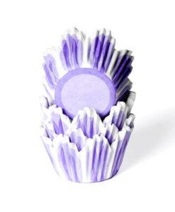 Papierbackförmchen - Tulpe lila