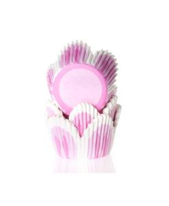 Papierbackförmchen - Tulpe pink, mini