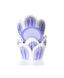 Papierbackförmchen - Tulpe lila, mini