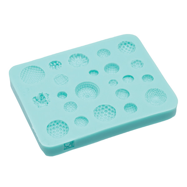 Silikonform - Buttons (Blütenpollen)
