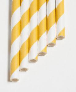 Strohhalme gelb - Streifen