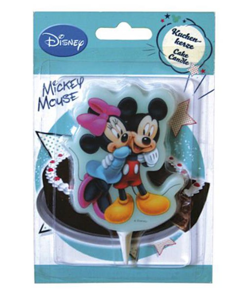 Kuchenkerze Mickey Mouse