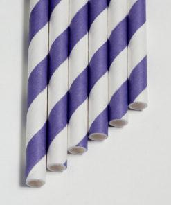Strohhalme lila - Streifen