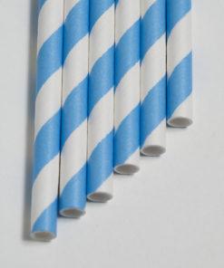 Strohhalme blau - Streifen