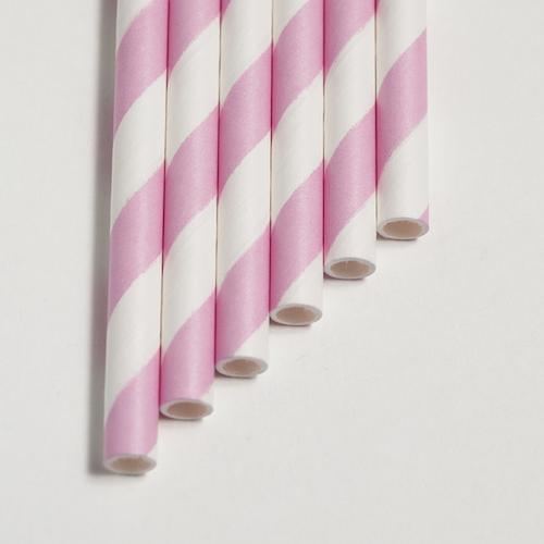 Strohhalme pink - Streifen