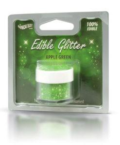 Lebensmittelfarbe Pulver - Glitzer, grün (hell)