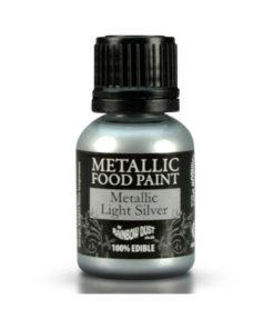 Lebensmittelfarbe - Metallic Light Silver