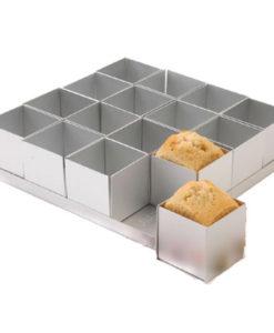 Backform - quadratische Mini Kuchen (16Stk.)