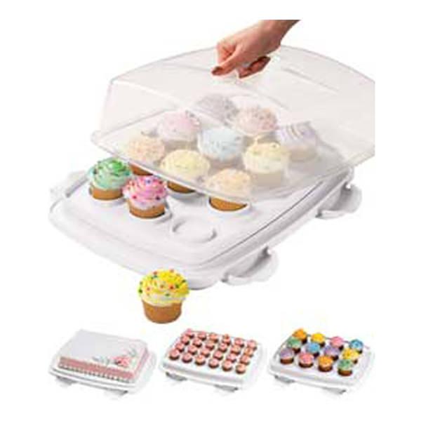 Kuchentransportbox Weiß: Wilton Cupcake Transportbox