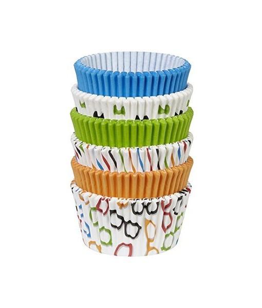 Papierbackförmchen - Schleifen & Brillen