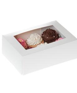 6er Cupcake Box - weiss