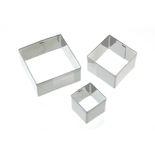 Ausstecher - Quadrat 3er Set