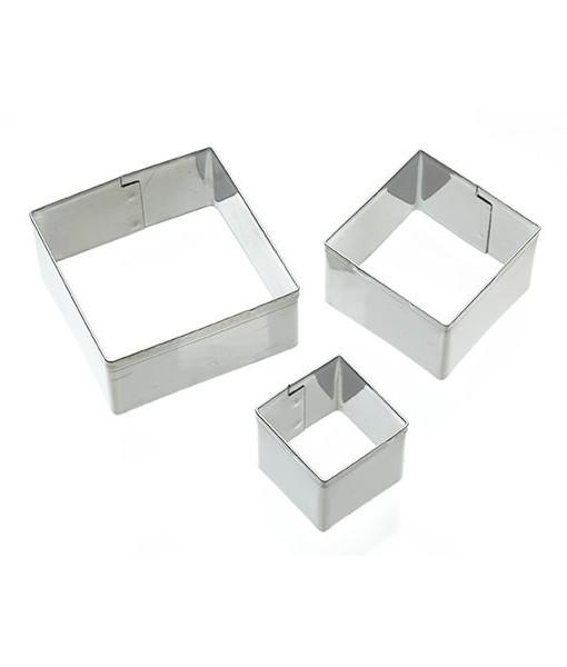 Ausstecher - Quadrat 3er Set