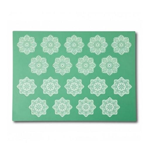 essbare Spitze - Silikonmatte Blume
