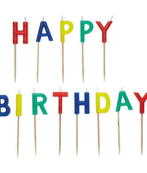 Kuchenkerze Happy Birthday