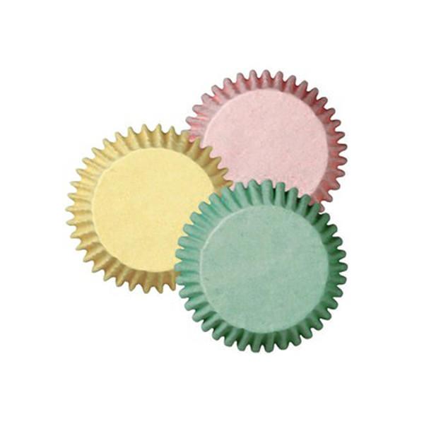 Papierbackförmchen - pastel, mini
