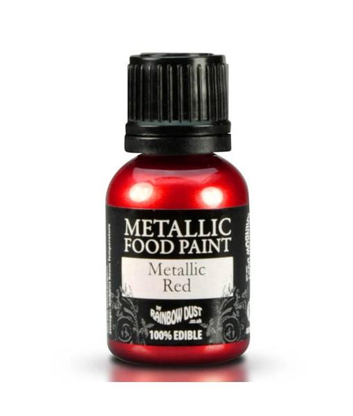 Lebensmittelfarbe - Metallic Rot