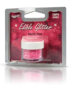 Lebensmittelfarbe Pulver - Glitzer, pink