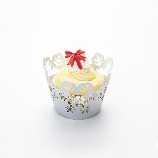 Cupcake Wrapper - Schneeeflocken