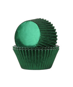 Folienbackförmchen - metallic grün