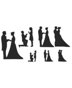 Ausstecher - Patchwork Cutter Hochzeit