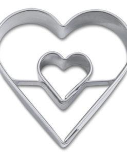 Ausstecher - Herz mit Herz