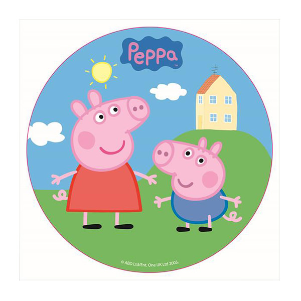 Peppa Pig Cake Pop Toppers