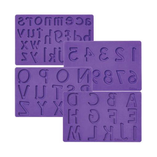 Silikonform - Buchstaben und Zahlen