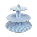 Cupcake Ständer - blau kariert