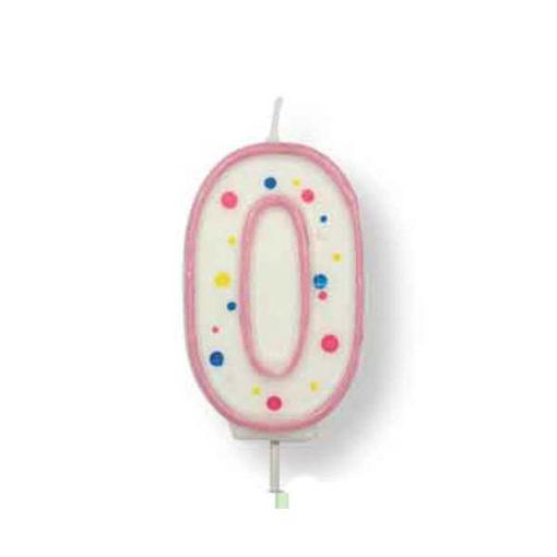 Geburtstagskerze Zahl 0, pink