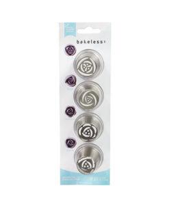 Spritztüllen Set - Rose, Tulpe, Magnolia, Mohnblume